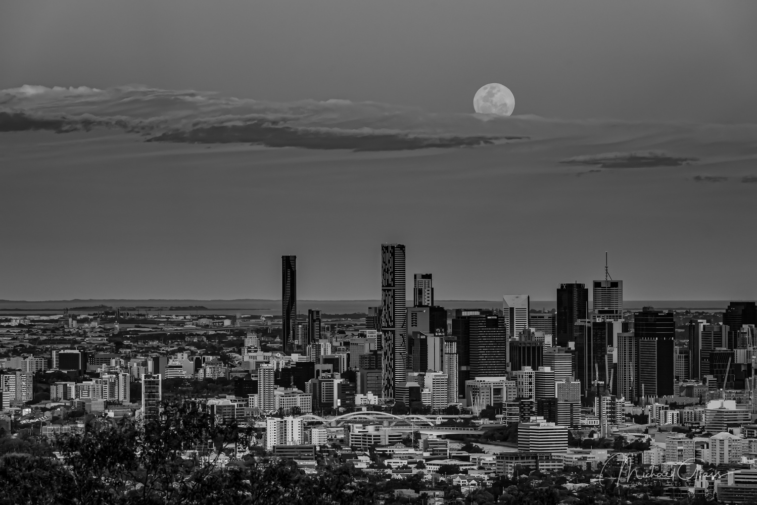 Supermoon in Mono by Mick Glass