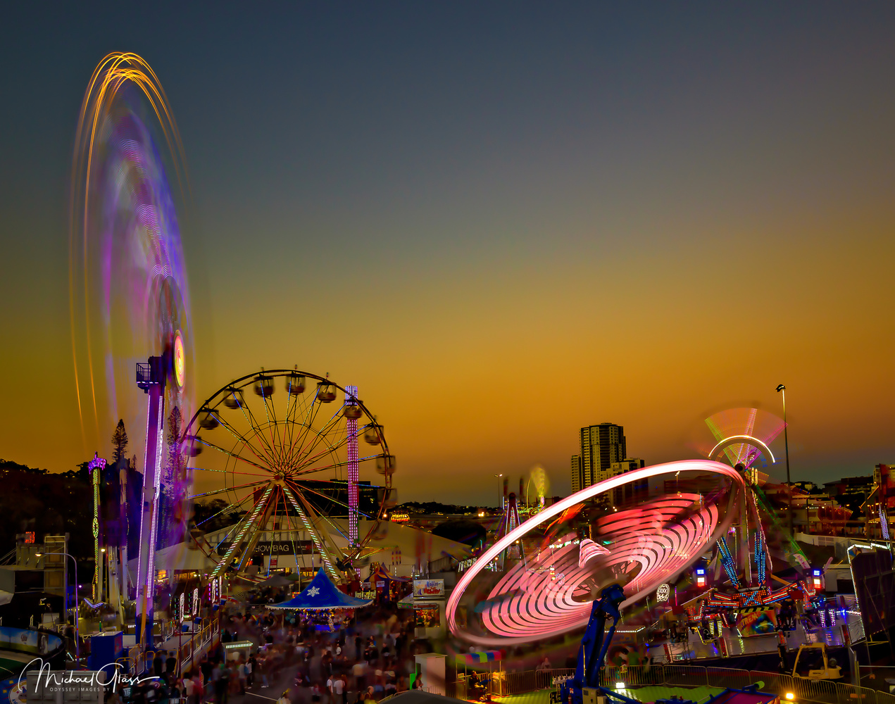 Sunset Fairground by Mick Glass