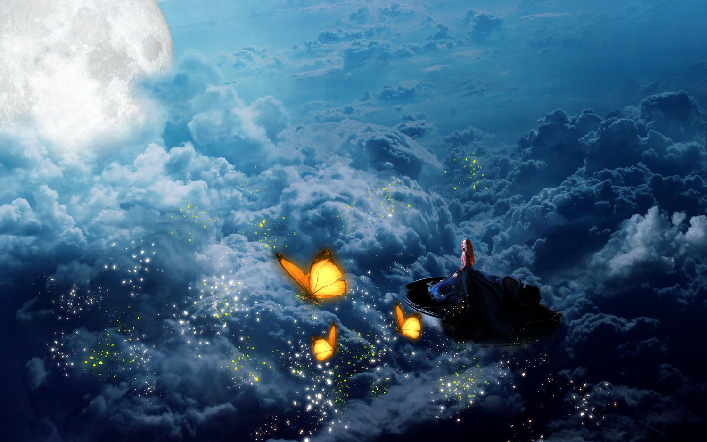 Through the clouds by Katarzyna Szara