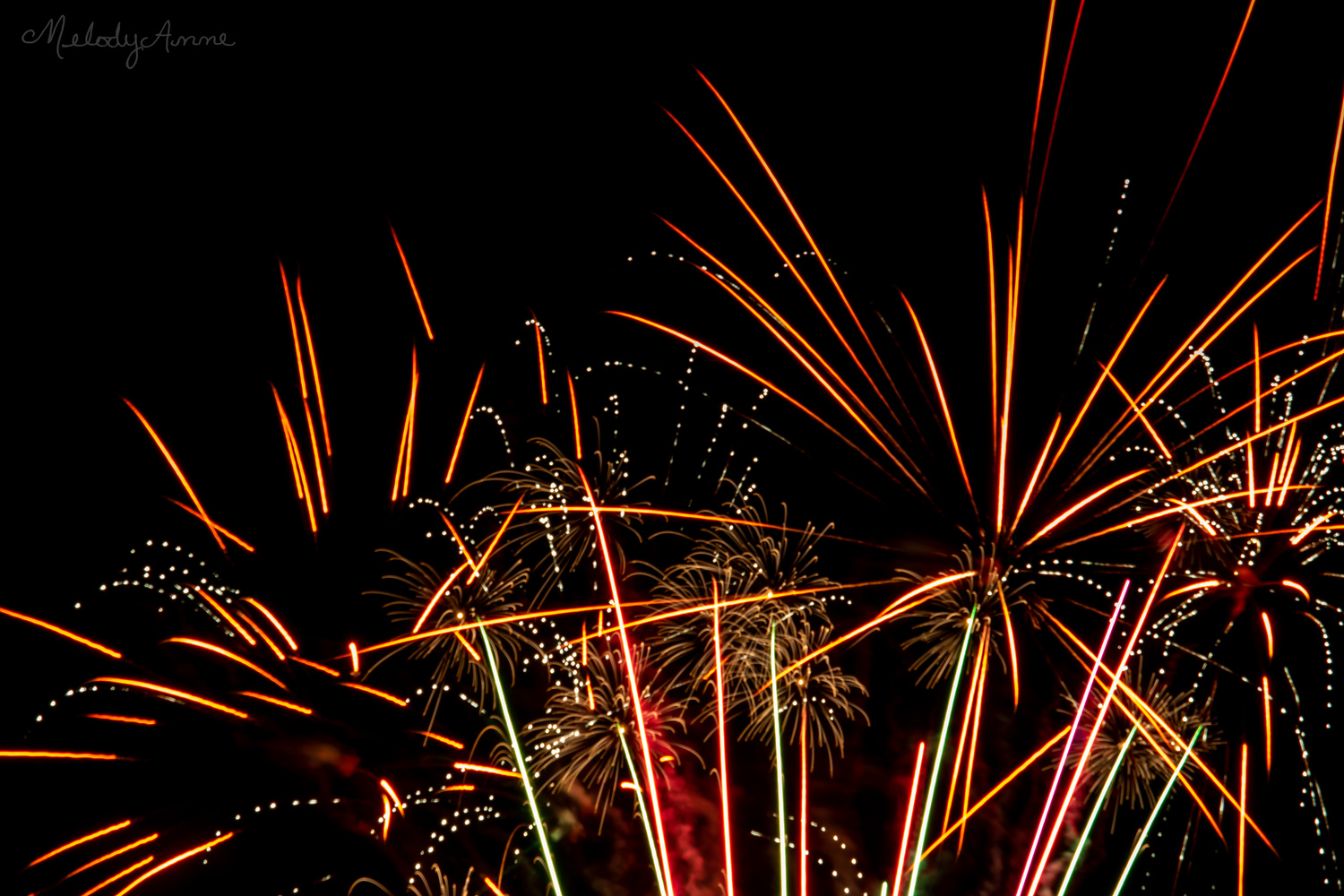 Country Fireworks by Melody Mellinger