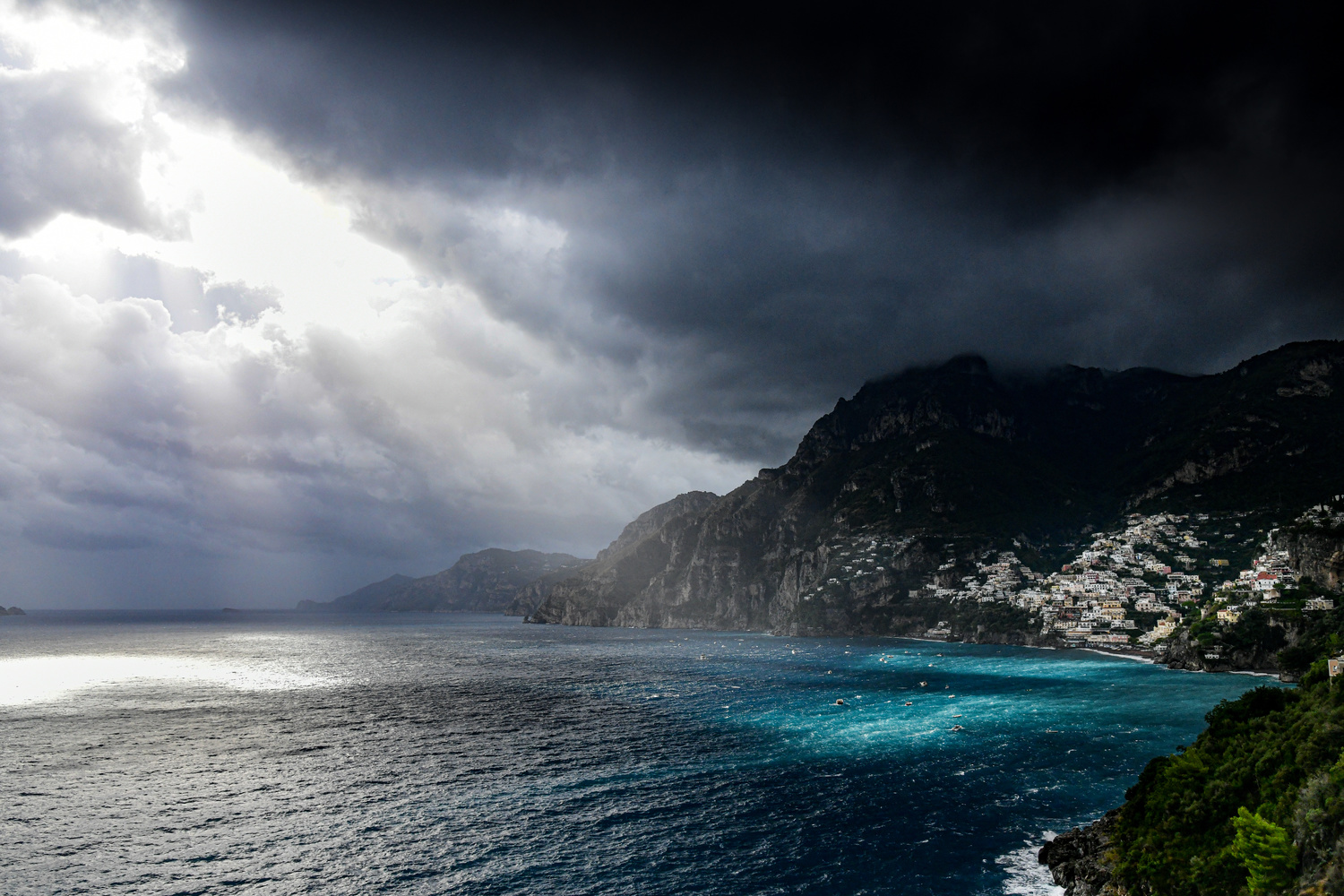 Positano after the rain by Martin Weiss