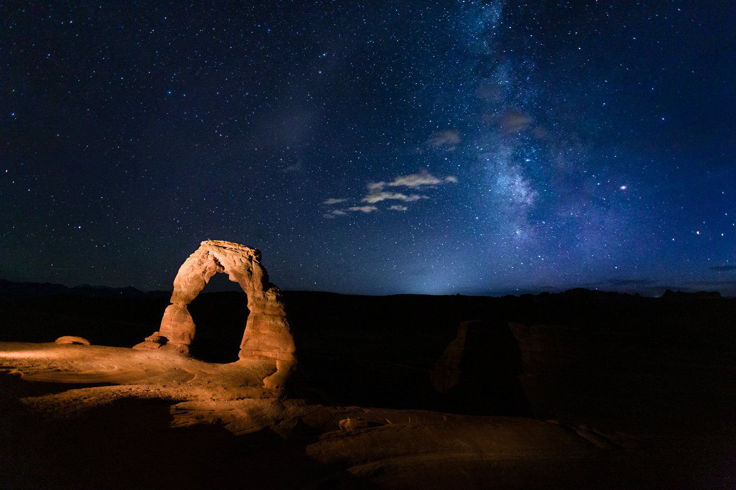 Delicate Arch & the Milky Way by David Daniels