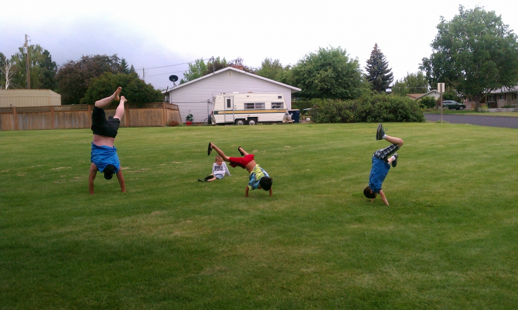 Practicing Cartwheels by Moira Pilch