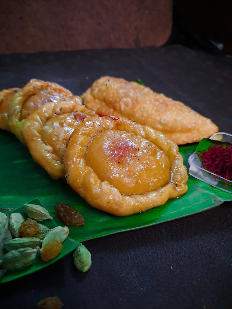 a sweet Indian bite : Chandrakala by Melapplon .
