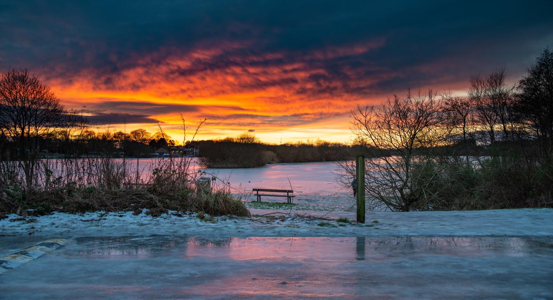Winter sunset by Bob Smart