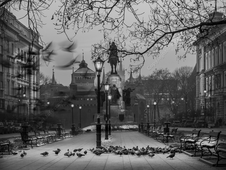 Matejko Square in Cracow (Poland) by Pawel Jaroszewski