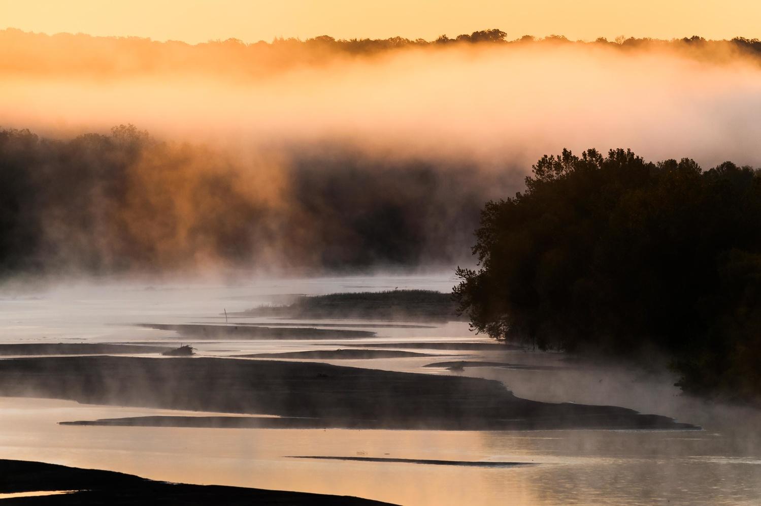 Canadian River near Konawa, Oklahoma by Richard Barron