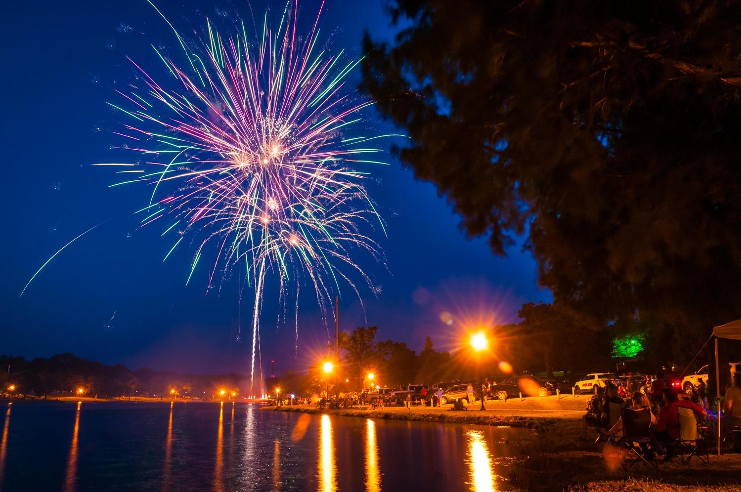 Fireworks, Ada, Oklahoma by Richard Barron