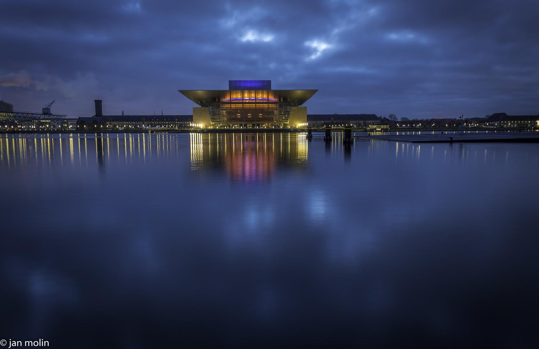 Blue hour opera by Jan Molin