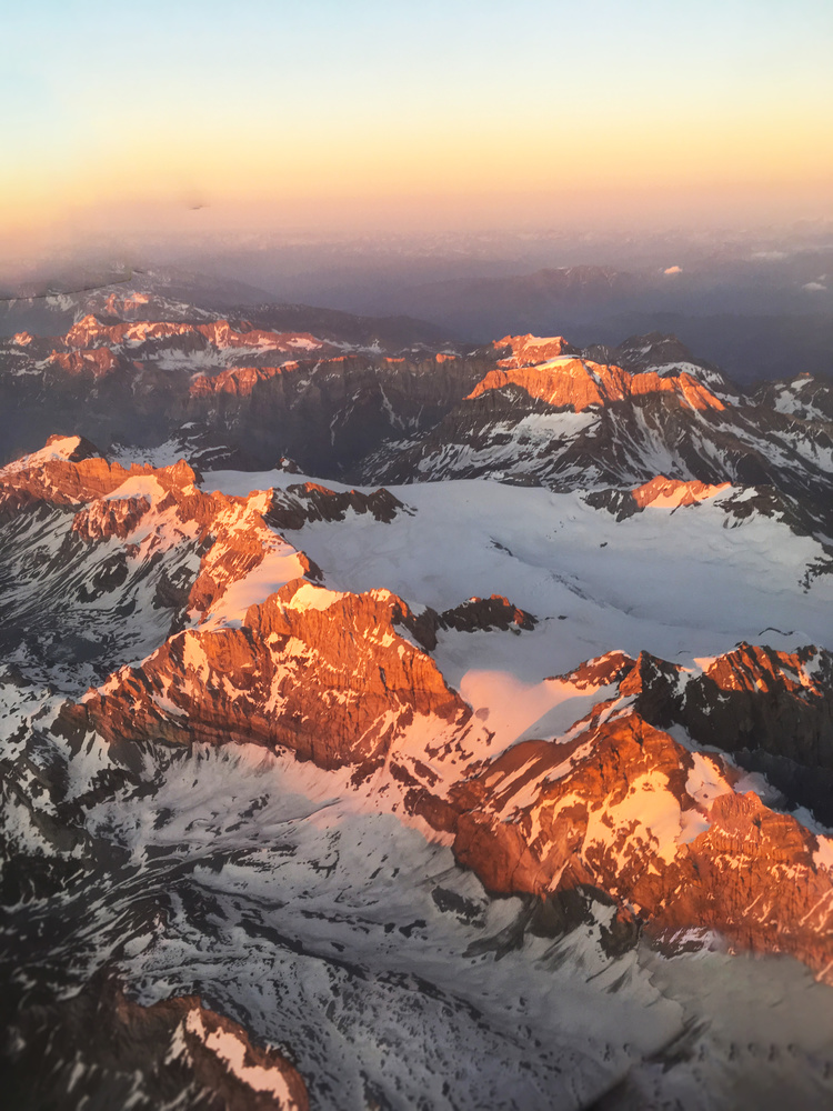 Swiss Alps from Above by Rohit Burra