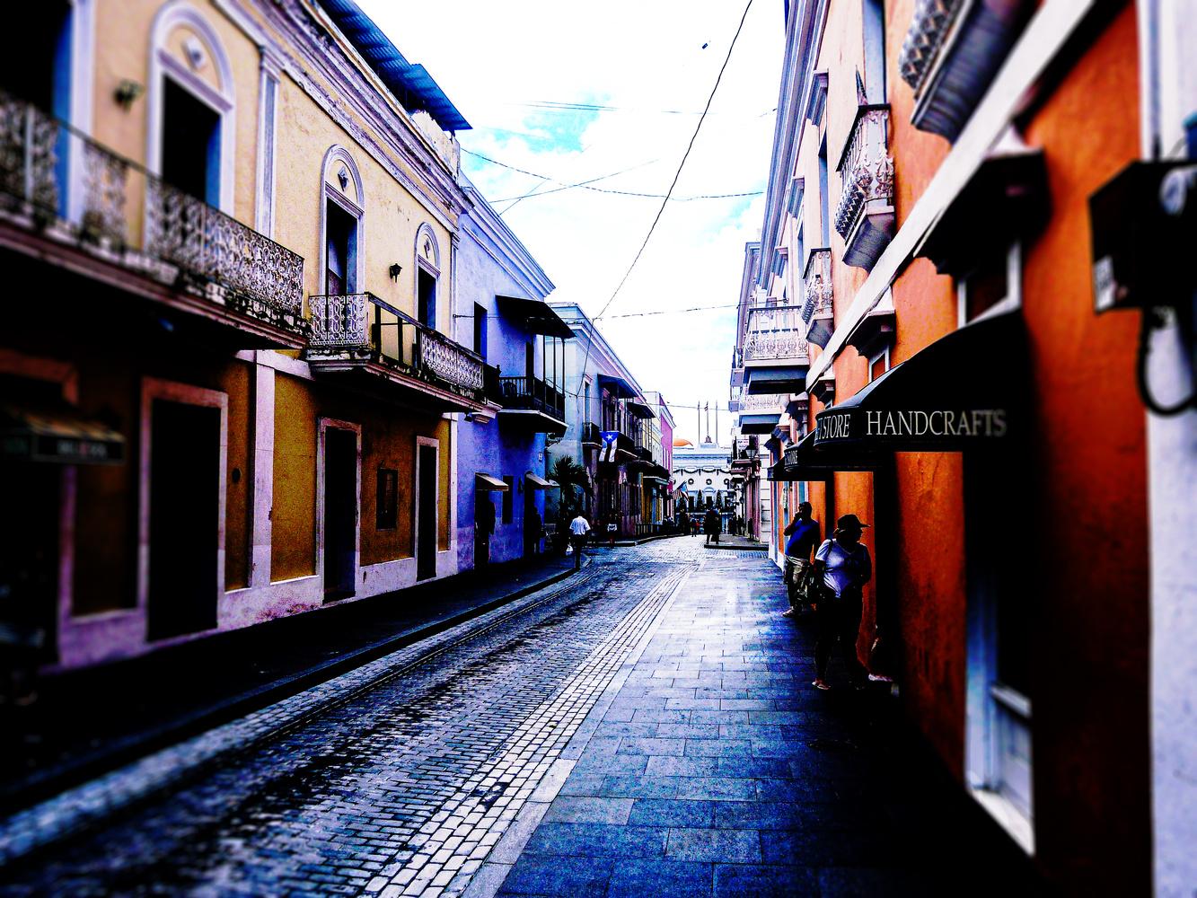 San Juan alley by Rohit Burra