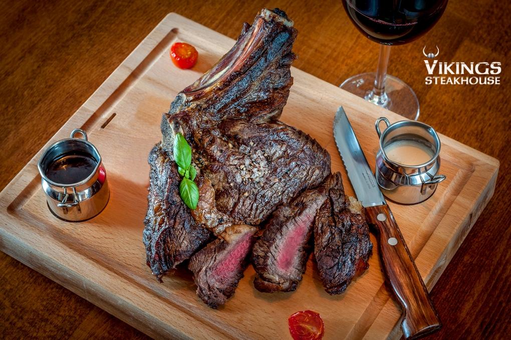 Rib Eye steak on the Bone by Peter Cernoch