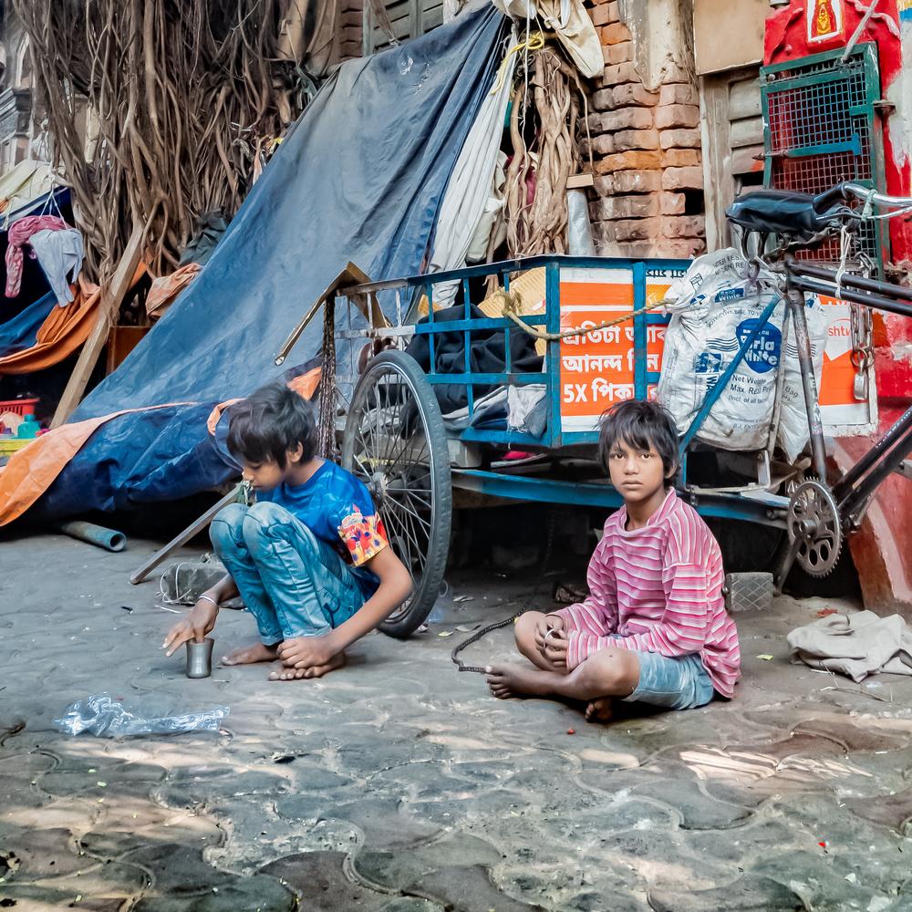 Children of the street by Ayan Bhattacharya