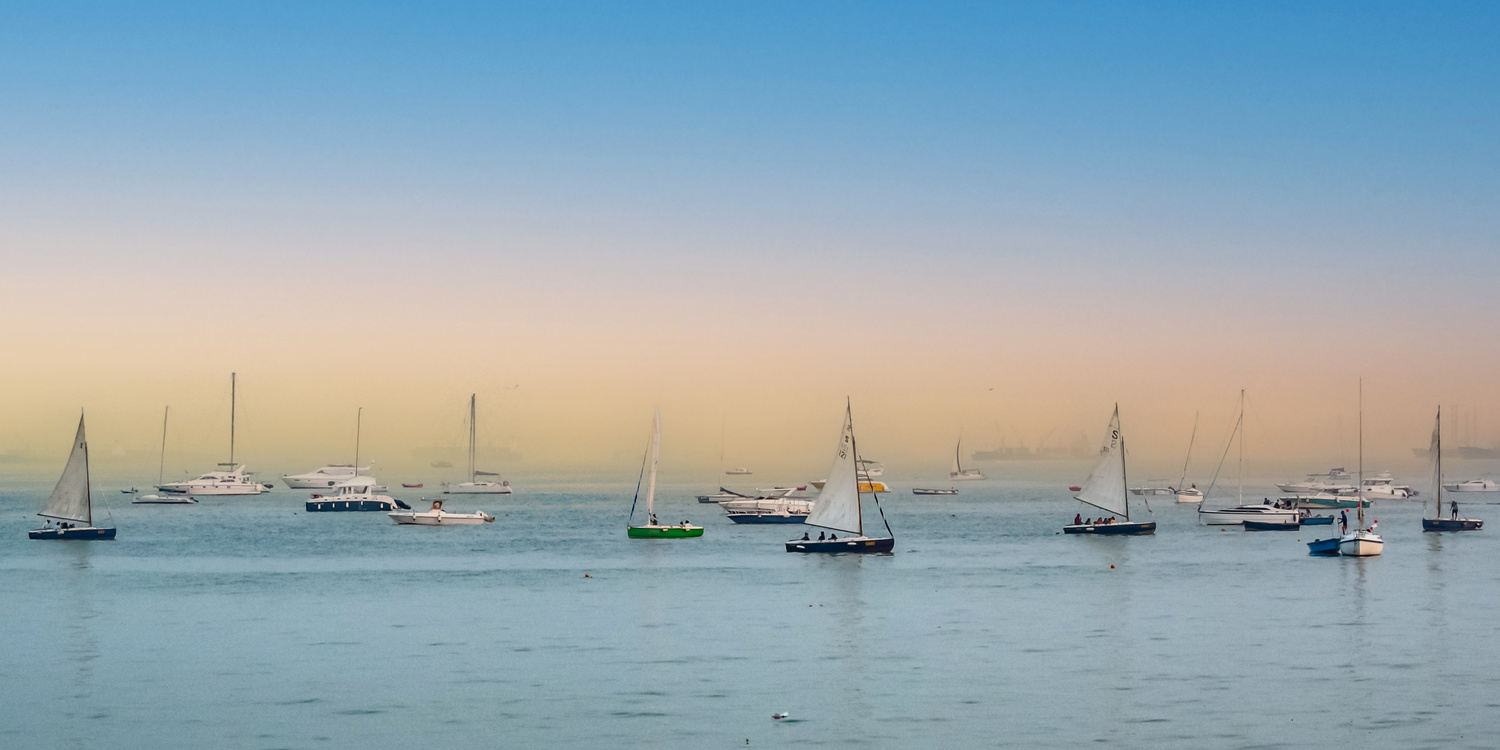 Boats By The Bay by Ayan Bhattacharya