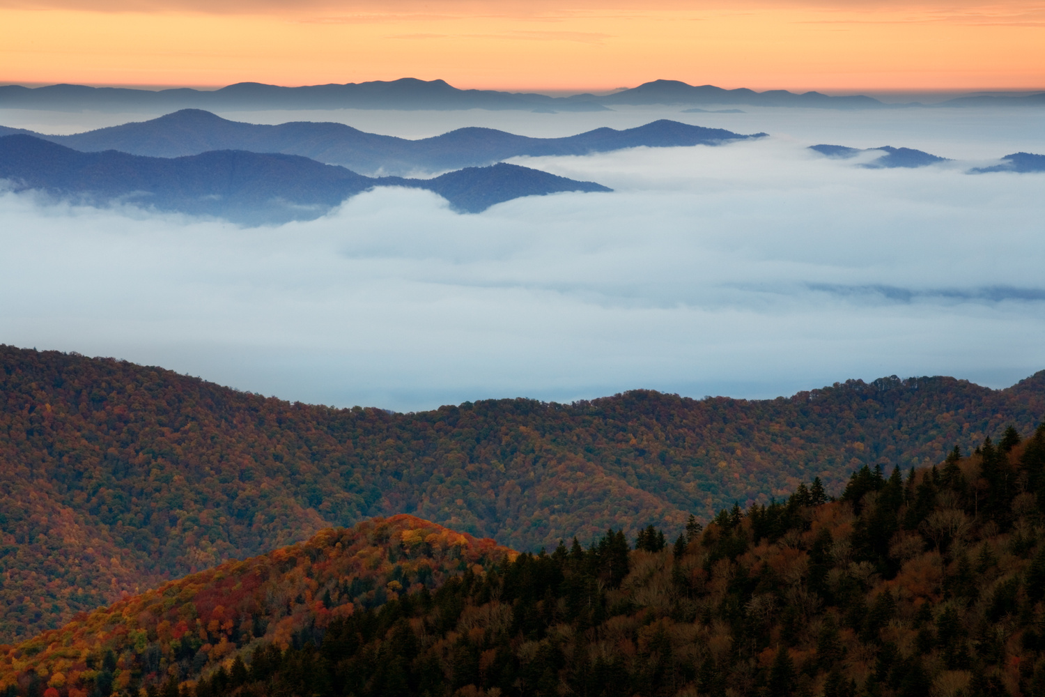 Fall in the Smokies by Thomas Even