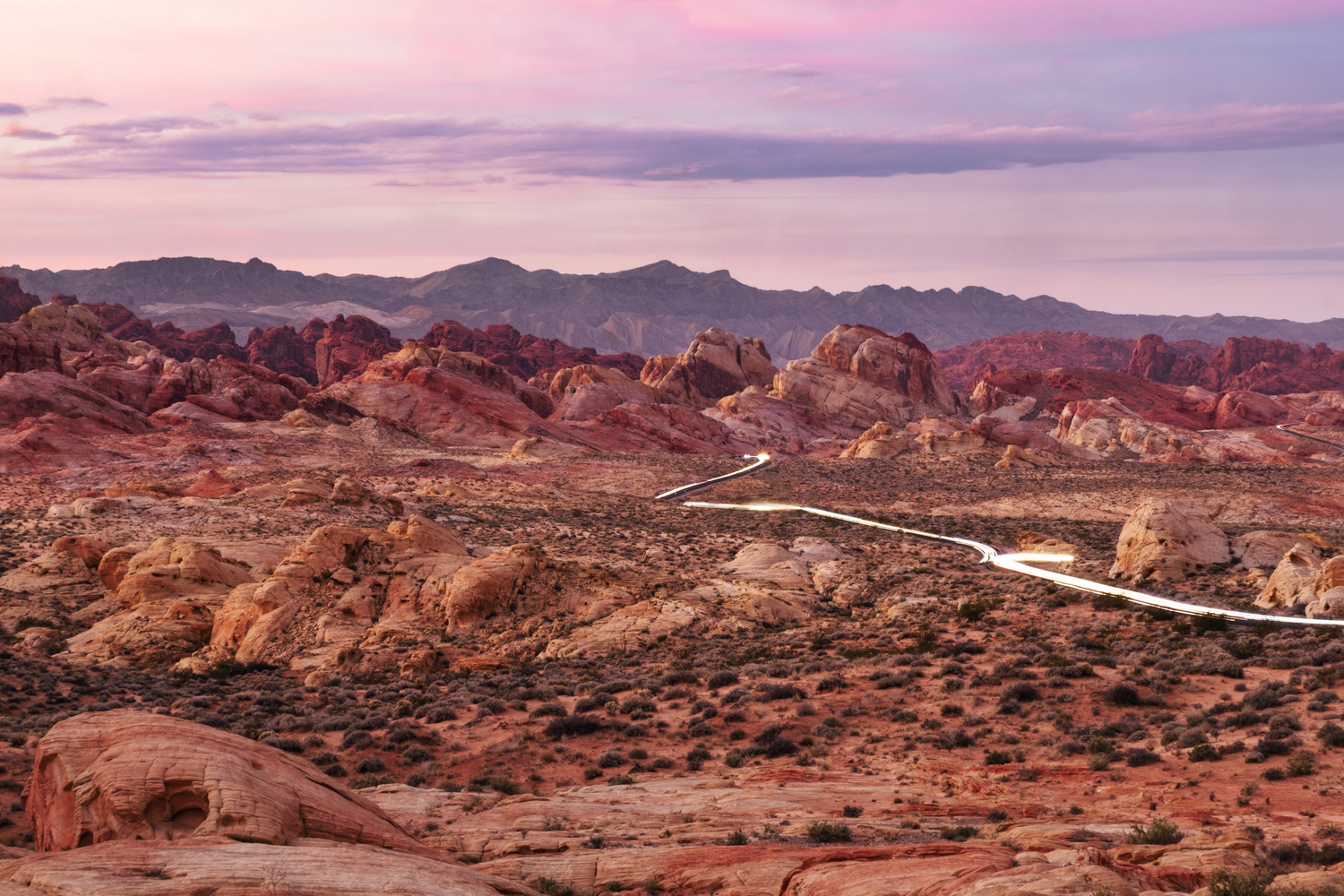 Valley of Fire Sunset Drive by Thomas Even