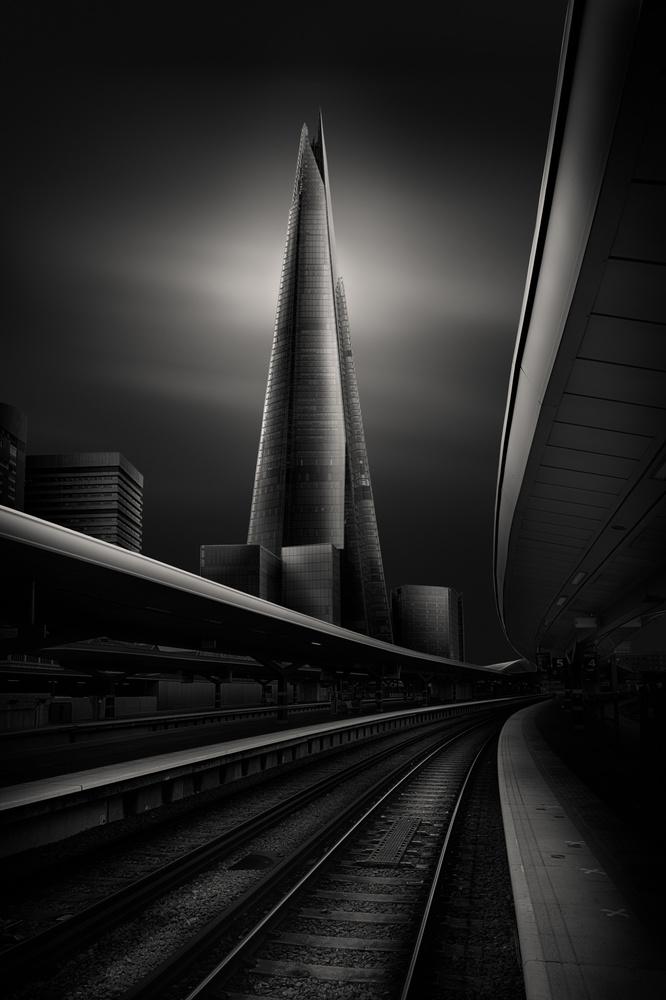 Shard from Platform 4 by David Garthwaite