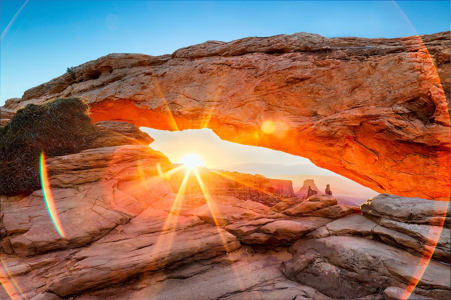 Mesa Arch Sunflare by Derek Brawdy