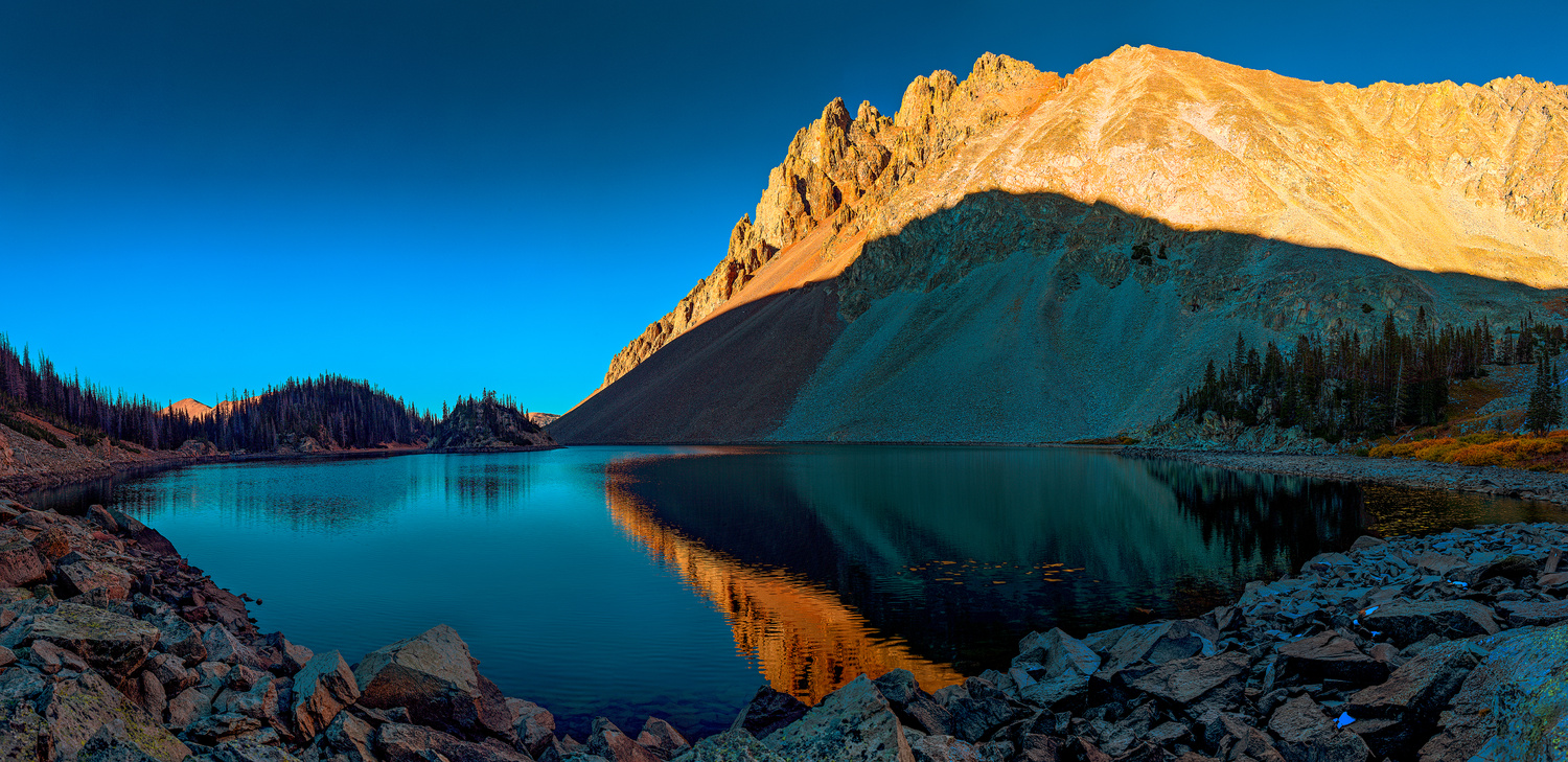 Lake Agnes and the Nokhu Crags by Derek Brawdy