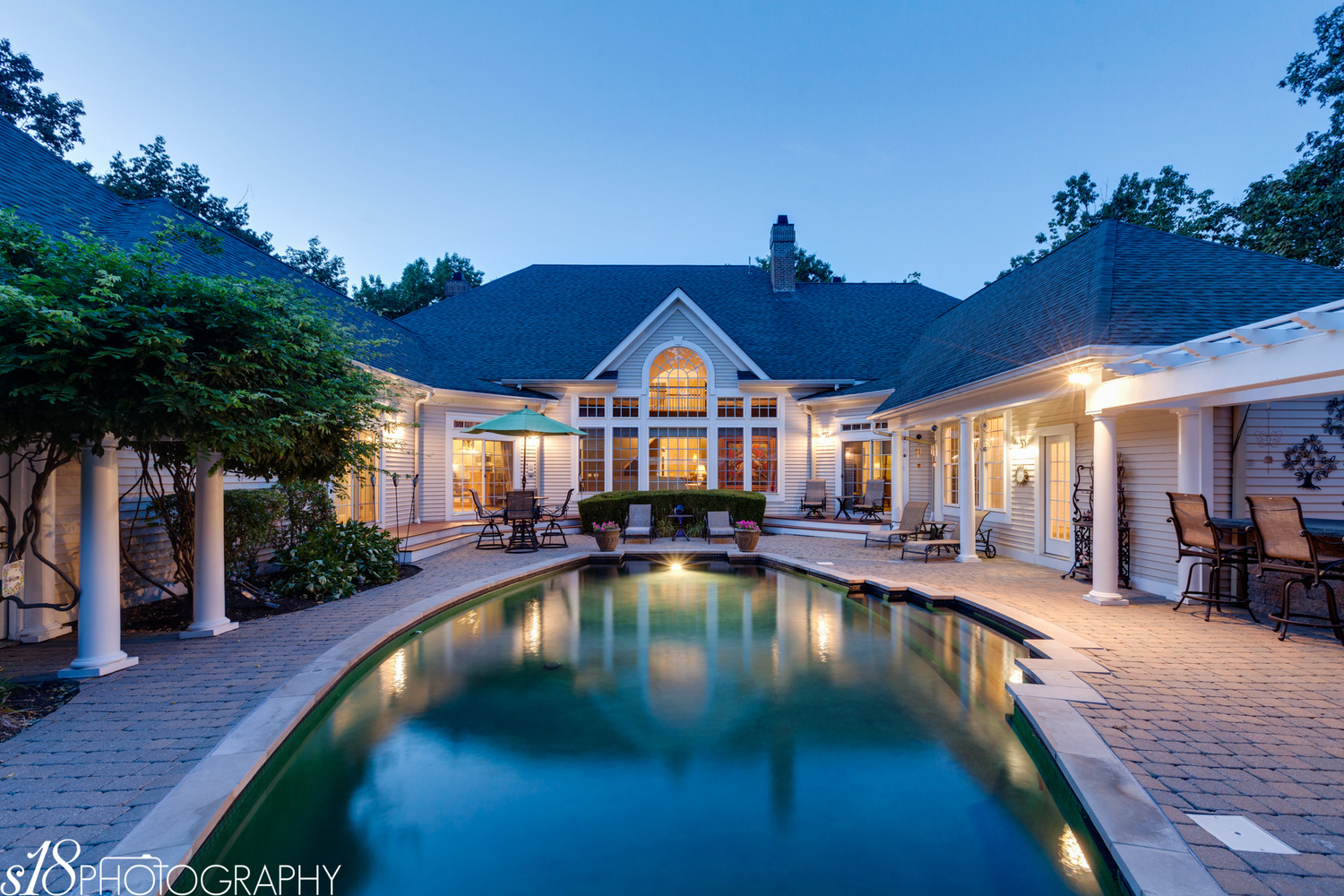 Twilight Exterior Pool by Fred Glasser