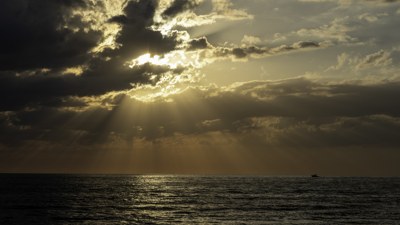 Rays at sunset by Jeffery Cullman