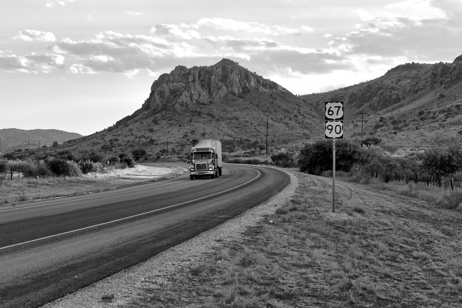Just outside Alpine Texas by Steve Carson