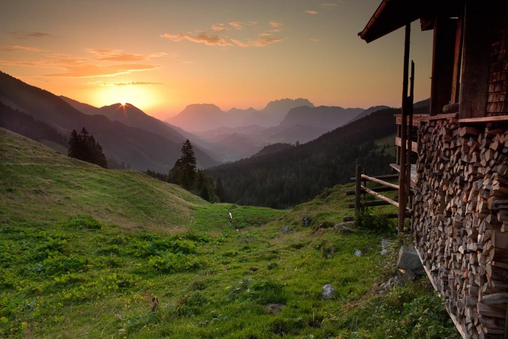 Sunrise, Austrian cottage by Michael Rapp