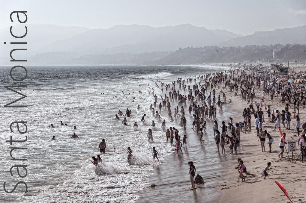 Santa Monica Beach by Roger Paige