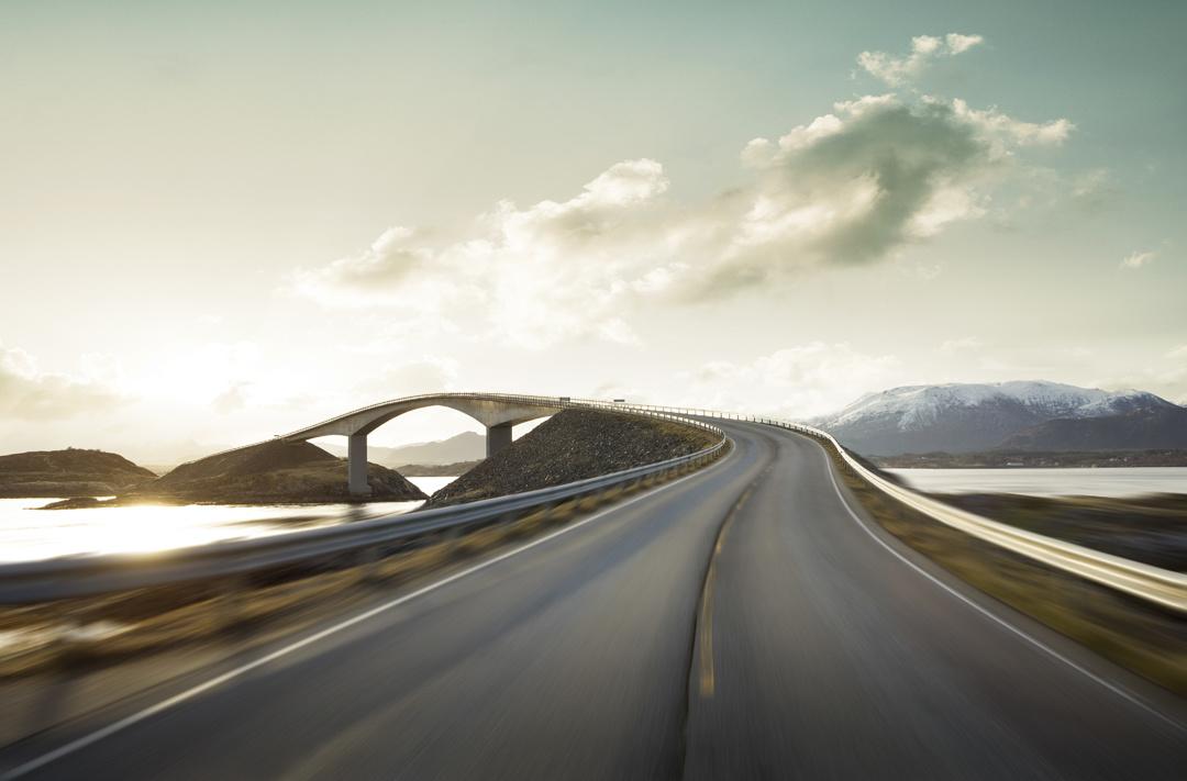 Bridge at sunrise by Mikolaj Niemczewski