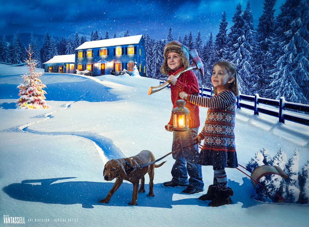 Wyatt & Madison Holiday Card 2014 by Mike Van Tassell