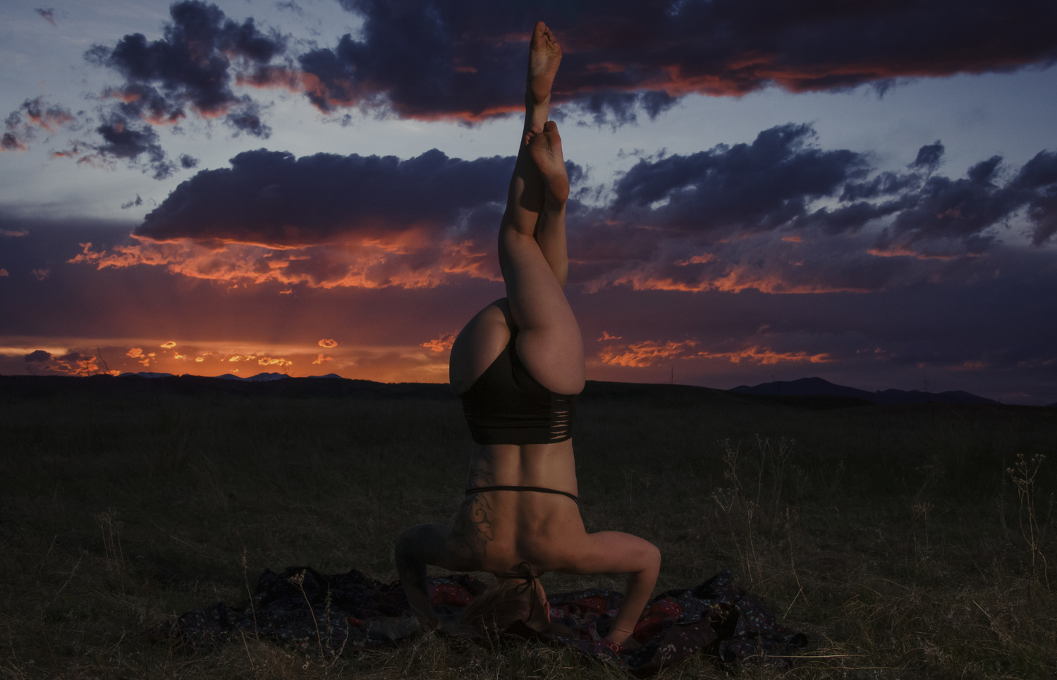 Magnificent Rocky Mountain Sunset & Yoga by Tony Ciccone