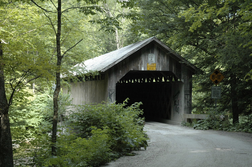 VT. covered bridge by michael buehrle