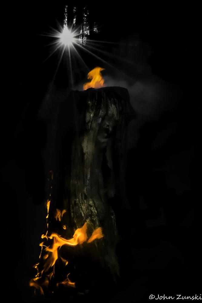 Fire Gnome by John Zunski