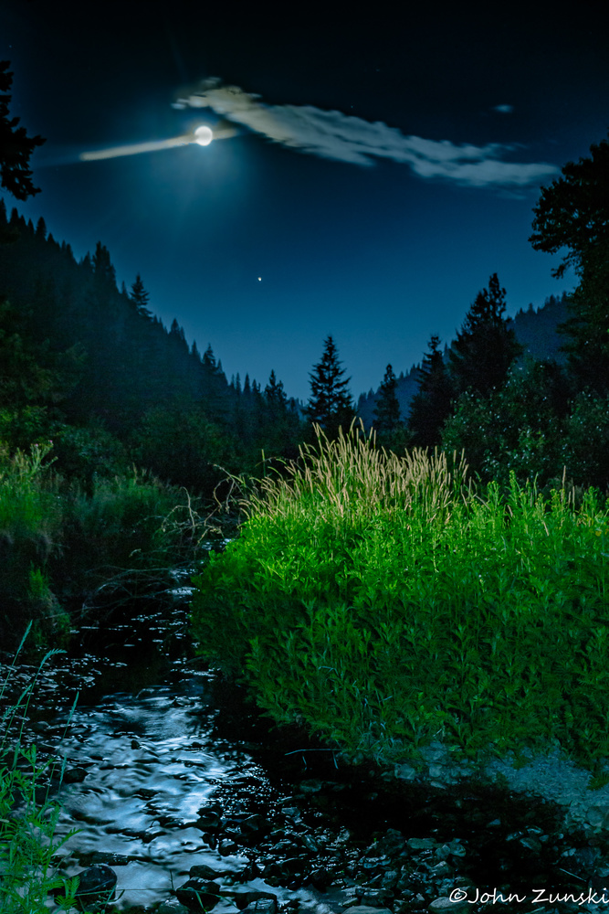 Midsummer's Night Creek by John Zunski