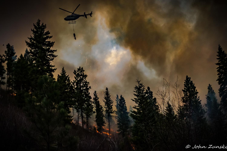 Raking the Forest - Montana Style by John Zunski
