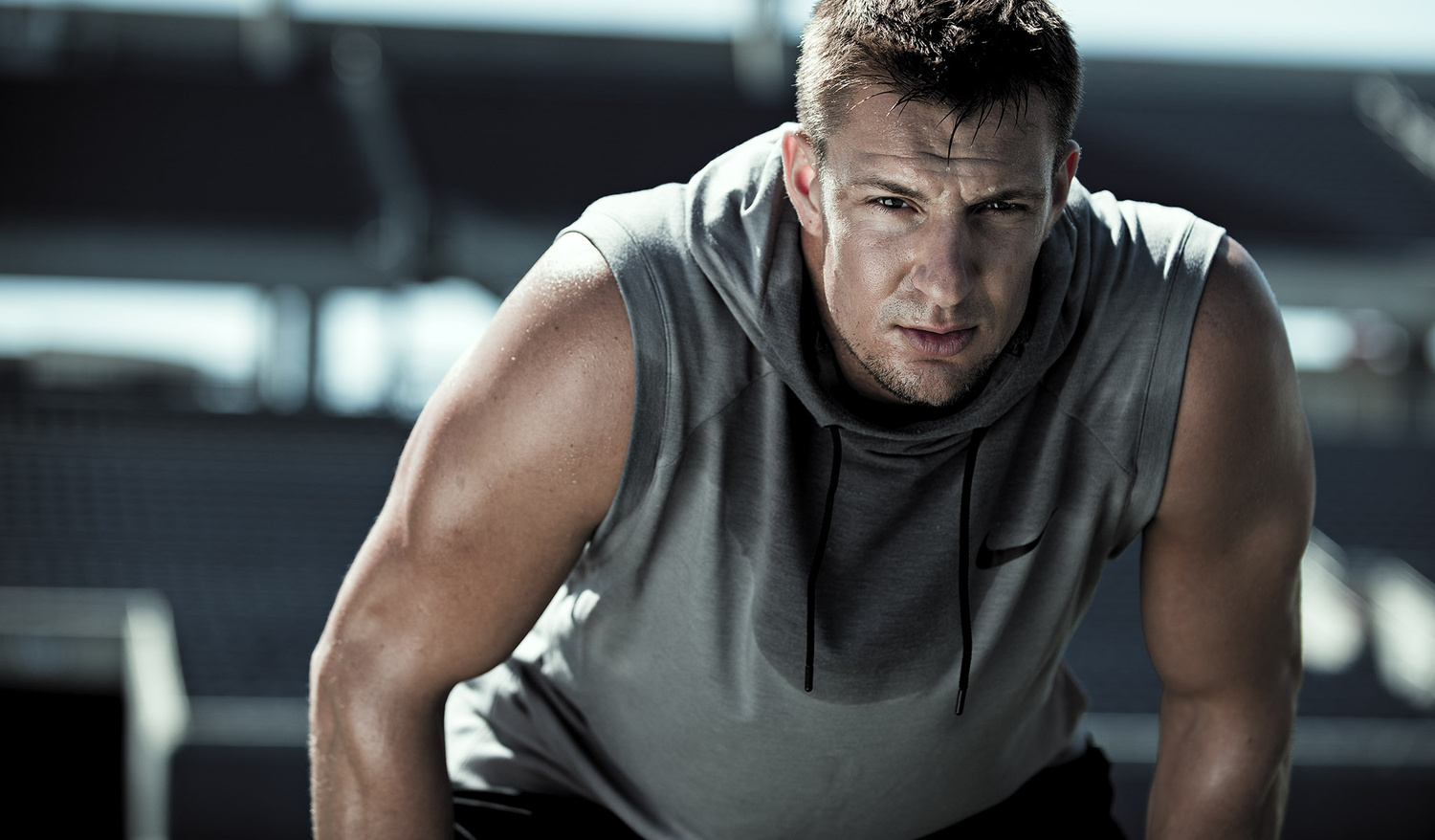 Working out with the Gronk by James Quantz Jr