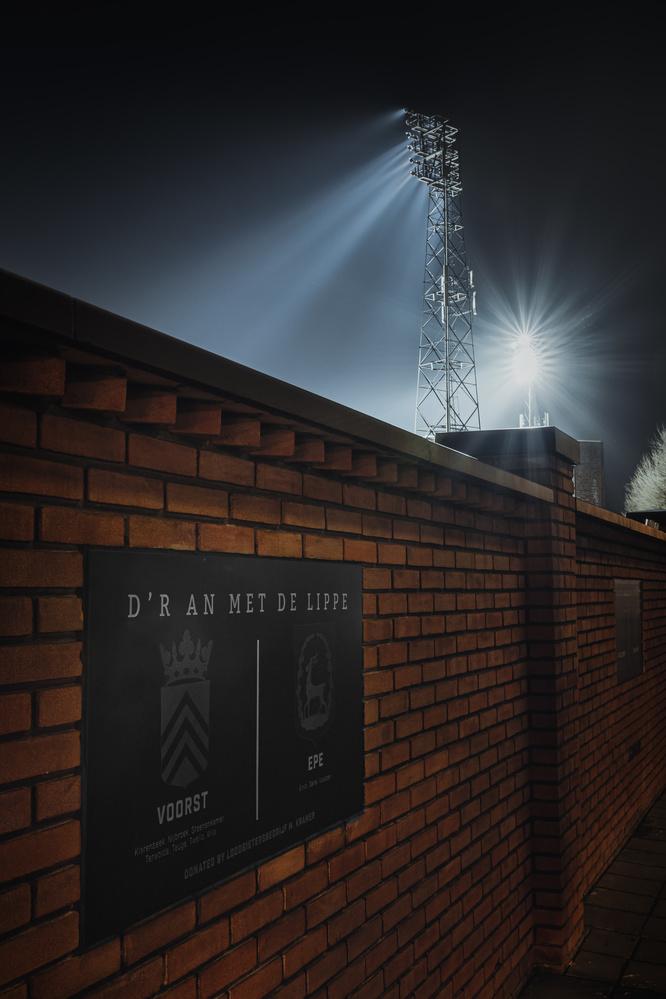 Light poles of the Go ahead eagles football stadium in Deventer by Jaimy Leemburg