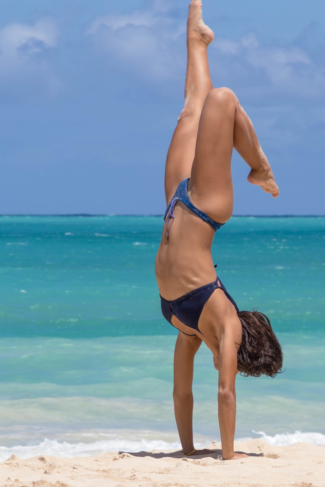 Handstand at Waimanalo by Noah Tom