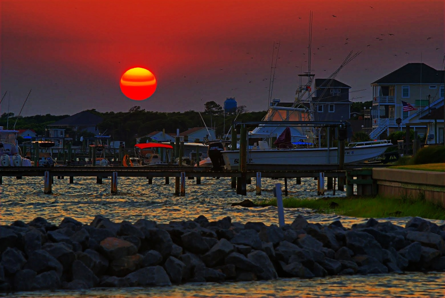 Harkers Island Sunset by Stanley Westfall