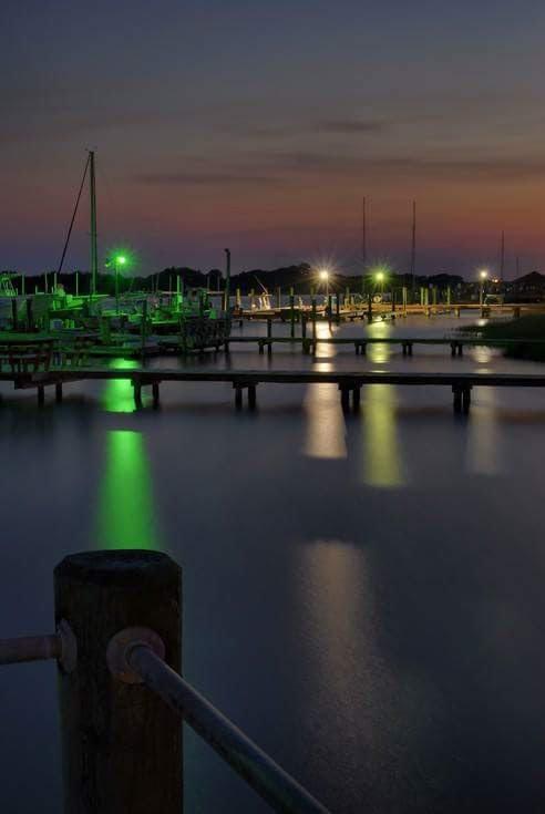 Docks at night by Stanley Westfall