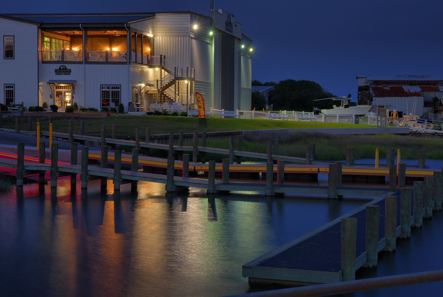 Dock Light Reflections by Stanley Westfall