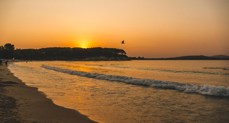 Orange sunset by Dimitar Bakalov