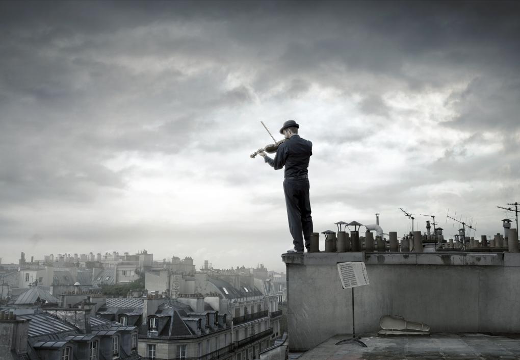 Fiddler Over Paris by John Fulton