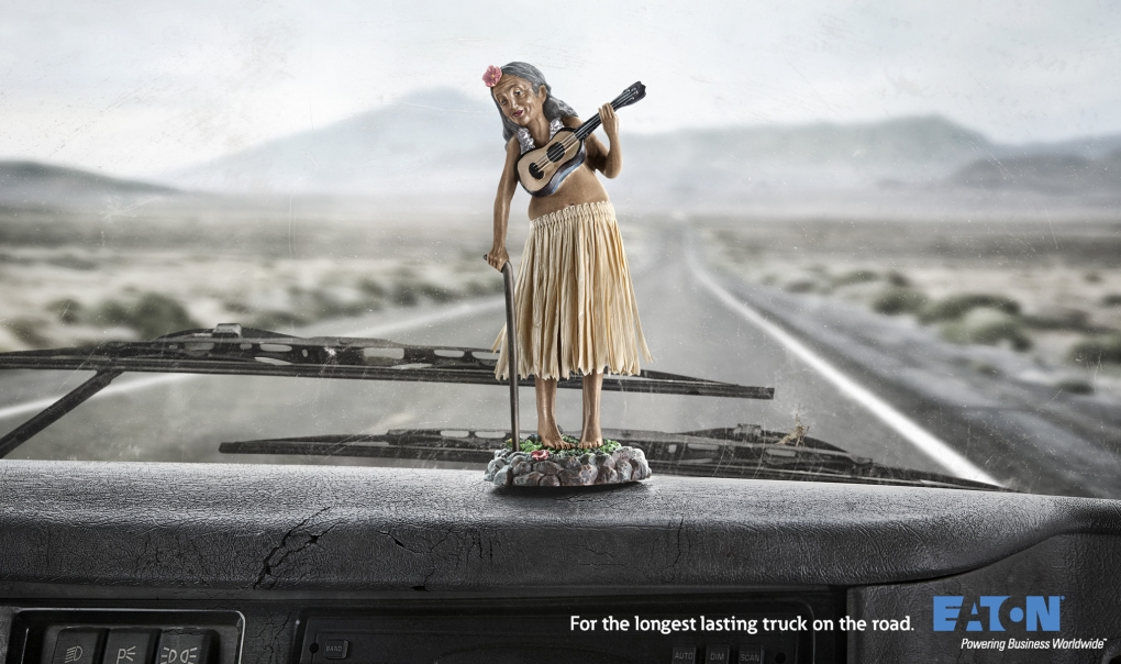 Elderly Hula Girl by John Fulton