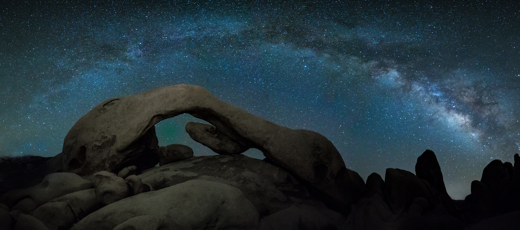 Arch Rock, Joshua Tree  - Framed by the Milky Way by Eric Gould