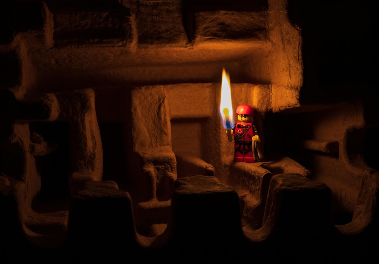 Exploring caves by David Birozy