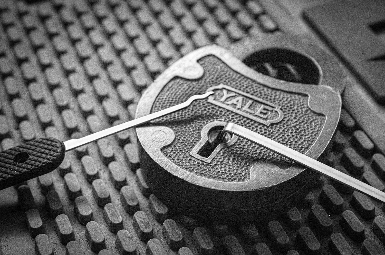 Old Yale padlock by David Birozy