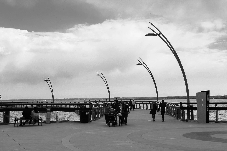 Cloudy Pier by Natalia Sadowski