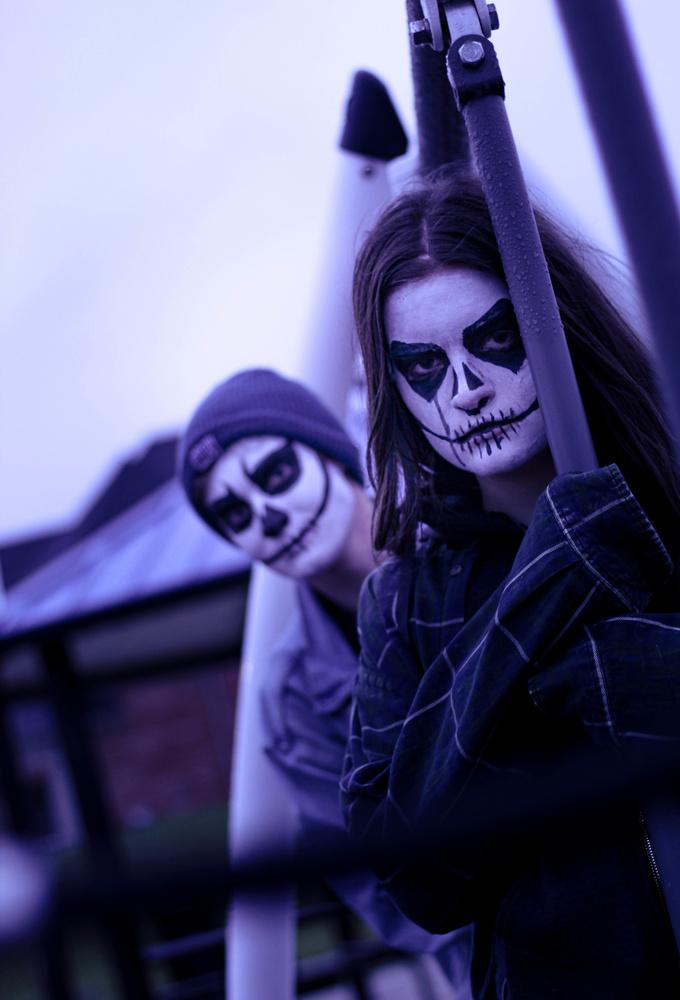 Skull Buddies Again by Natalia Sadowski