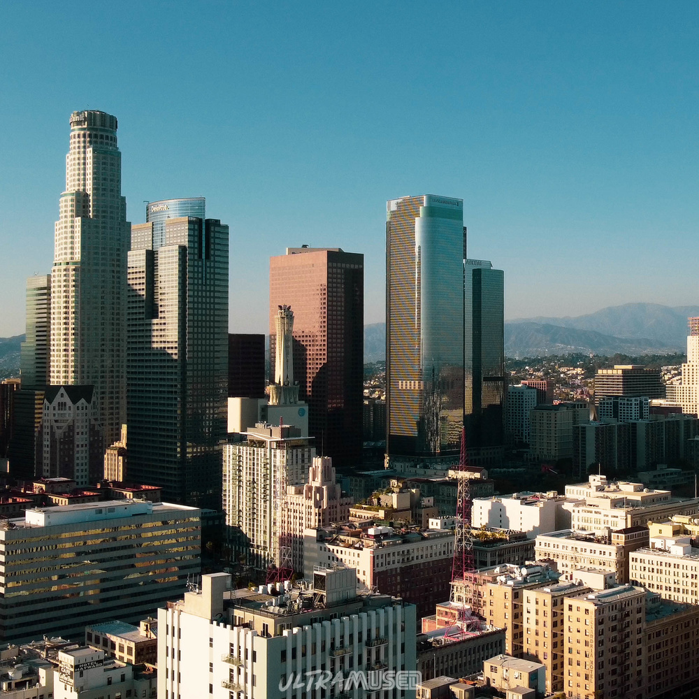 Downtown LA above Skidrow by Curtis Anderson